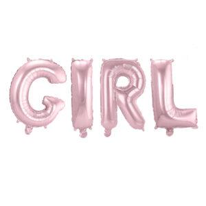 Folieballong, bokstäver, girl