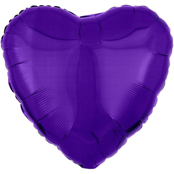 Folieballong, hjärta-Lila