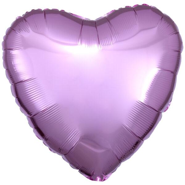 Folieballong, hjärta-Rosa
