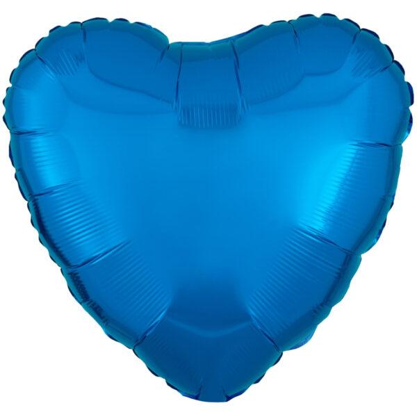 Folieballong, hjärta-Blå