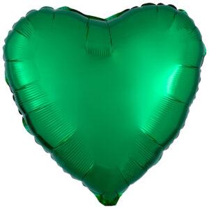 Folieballong, hjärta-Grön