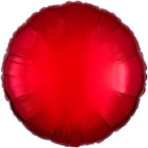 Folieballong, rund-Röd