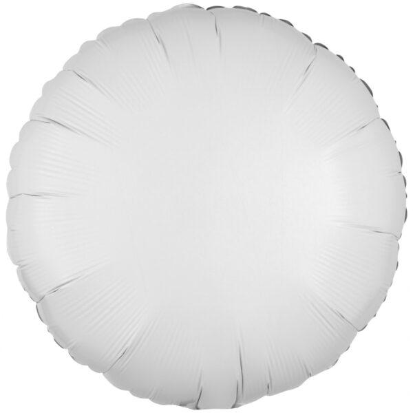 Folieballong, rund-Vit