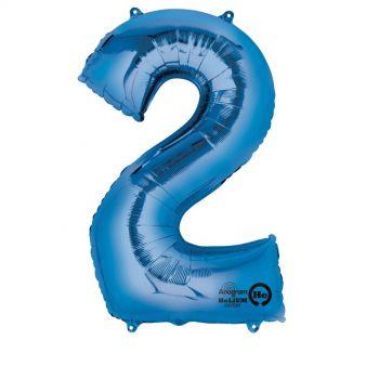 Folieballong siffra, blå-2