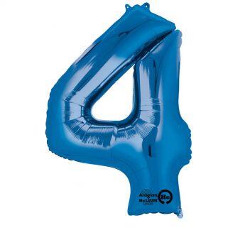 Folieballong siffra, blå-4