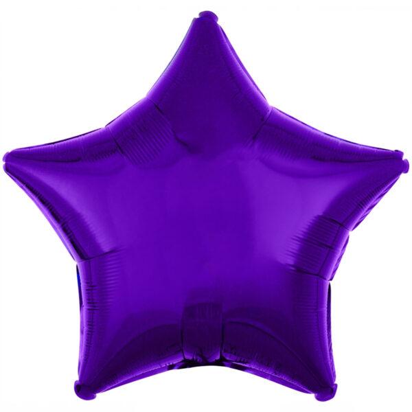 Folieballong, stjärna-Lila
