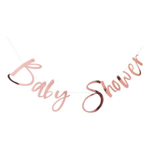 Girlang Baby Shower Roséguld Metallic