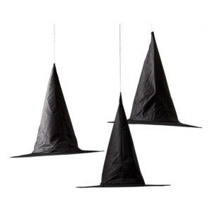 Hängande Dekorationer Häxhattar Svart - 3-pack