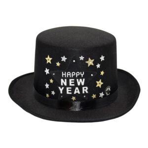 Hatt Happy New Year Svart - One size