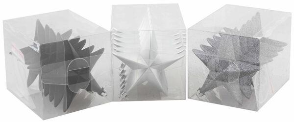 Julgranshänge Stjärna Silver - 6-pack