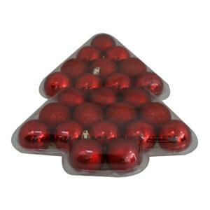 Julkulor Mix Röd - 24-pack