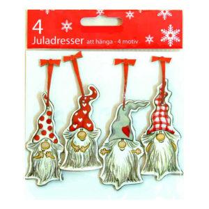 Jultaggar Knas Tomtar - 4-pack
