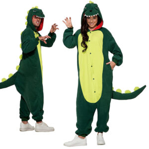 Jumpsuit, dinosaurie grön