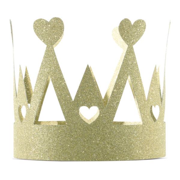 Krona Guld/Glitter - One size