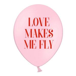 Latexballonger Love Makes Me Fly - 50-pack