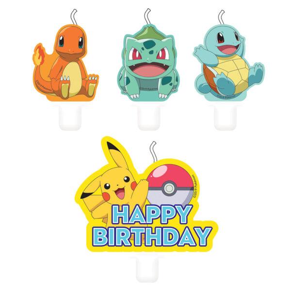 Mini Pokemon Tårtljus 4-Pack