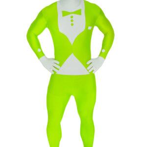 Morphsuit, tuxedo neongrön
