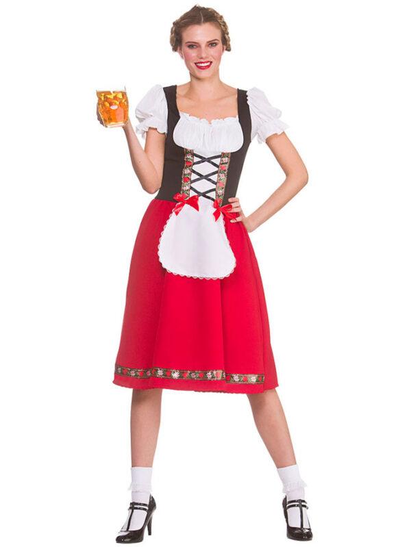 Oktoberfest Dirndl Maskeraddräkt (Small (Strl. 38-40))