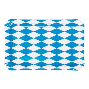 Pappersassietter Rektangulära Bayersk Blå - 50-pack