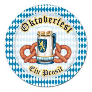 Papperstallrikar Oktoberfest Ein Prosit - 8-pack