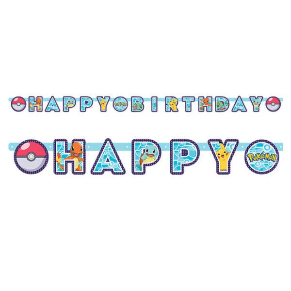Pokemon Födelsedags Banderoll
