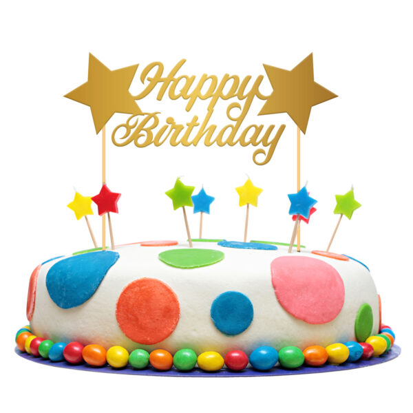 Tårtdekoration, happy birthday