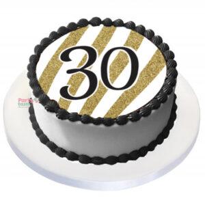 Tårtbild 30 år