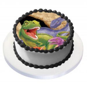 Tårtbild Dinosaurie