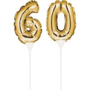 Tårtdekoration Siffror Guld - 60