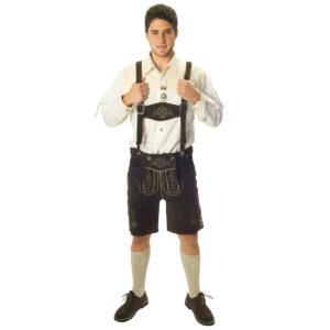 Tyrolerbyxor, shorts bruna-3XL