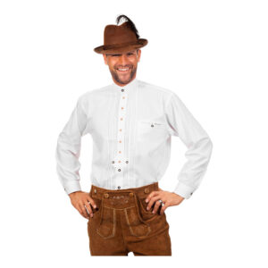 Tyrolerskjorta Deluxe Vit - Large