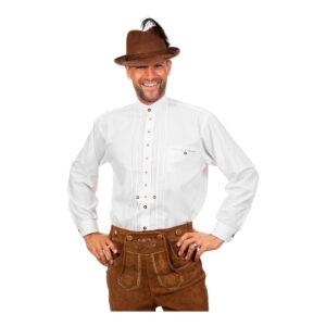 Tyrolerskjorta Deluxe Vit - Small