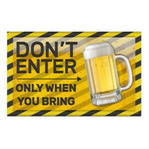 Väggdekoration Only When You Bring Beer