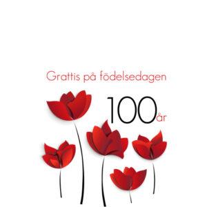 100 år röda blommor