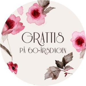 60 år rosa blommor