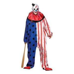 Amerikansk Mördarclown Maskeraddräkt - One size