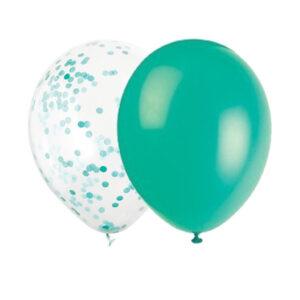 Ballonger Ljusturkos Mix med konfetti 16 st