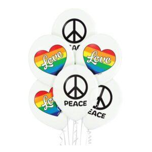 Ballonger Love & Peace - 6-pack