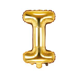 Bokstavsballong Guld 35 cm - I