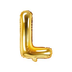 Bokstavsballong Guld 35 cm - L