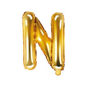 Bokstavsballong Guld 35 cm - N
