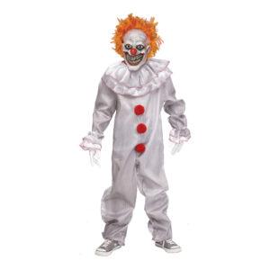 Carnevil Killer Clown Pojke Maskeraddräkt - X-Large