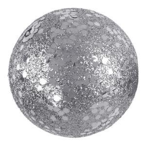 Dekorationsbollar Silver/Glitter - 10-pack