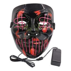 El Wire Dollarsign LED Mask - Rosa