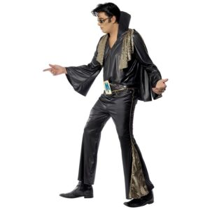Kostym, Elvis svart -L