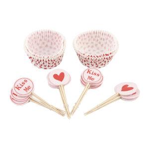 Muffinsformar med Picks Kärlek - 48-pack