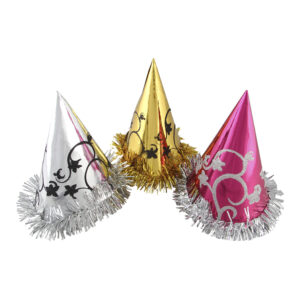 Partyhatt Metallic - 3-pack