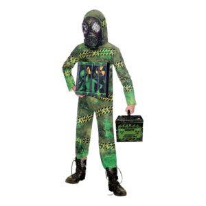 Zombie Alien Karantän Barn Maskeraddräkt - Small