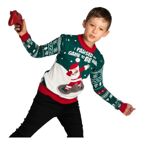 I Paused My Game Jultröja för Barn - Medium