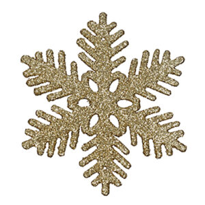 Julgranshänge Snöflinga - Guld